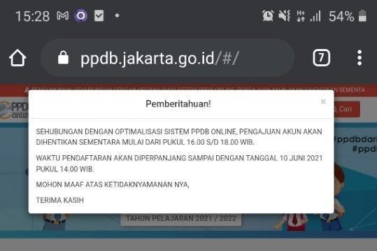 PPDB Online Jakarta 2021 Error, Ini Alasan Dinas Pendidikan