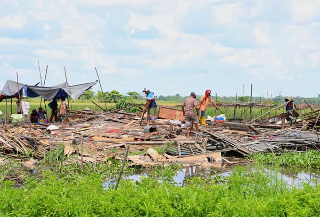 Puting Beliung Hancurkan Puluhan Rumah di Ogan Ilir